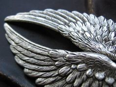 silver angel wings