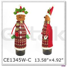 Christmas Deer Decorative Knitted Wine Bottle Covers , Find Complete Details about Christmas Deer Decorative Knitted Wine Bottle…