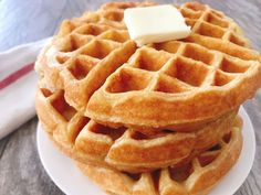 Amazing Sweet Cream Waffles will literally melt in your mouth! They are soft, delicate, and will definitely be the best tasting waffle recipe ever! Savory Breakfast, Breakfast Recipes, Brunch Recipes, Breakfast Ideas, Brunch Ideas, Mexican Breakfast, Brunch Dishes, Breakfast Sandwiches, Breakfast Pancakes