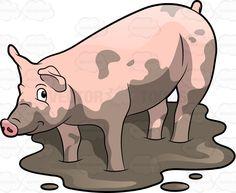 A cute pig playing in the mud #adorable #animal #babe #bashful #belly #cartoon #charming #cheerful #content #contented #cunning #curlytail #cute #dirt #dirty #domesticpig #drawing #farm #fat #fatty #felicitous #fourlegged #glad #grunter #hair #ham #happy #hog #joyful #joyous #livestock #livingthing #mammal #mud #muddy #omnivore #pig #pigfarm #piggy #piglet #pink #pork #porky #shy #slob #smiling #snout #soaked #soil #squealer #Susscrofa #swine #swinefarm #vector #clipart #stock