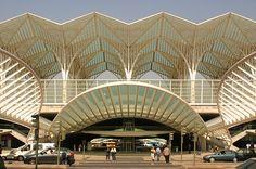 Santiago Calatrava- Oriente Train Station, Lisbon, Portugal