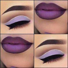 Beautiful Makeup Ideas with Maroon Lips - Make-up Künstler - Lipstick Skin Makeup, Eyeshadow Makeup, Beauty Makeup, Makeup Geek, Eyeshadow Tips, Matte Eyeshadow, Eyeshadow Palette, Maybelline Eyeshadow, Yellow Eyeshadow