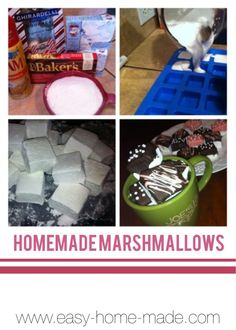 We have a simple homemade marshmallow recipe that is quick and easy...and so yummy.  Add some creativity to make them gourmet...