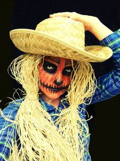 Evil Pumpkin Scarecrow makeup by Amber Dawn of the Dead