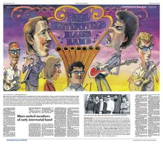 #PaulButterfield #RockHall2015 induction preview. Ted Crow, illustrator; Jane Mitchell, designer; David Kordalski & Josh Crutchmer, art directors