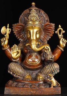 """View the Ganesh Abhaya Mudra Statue 18"""""""