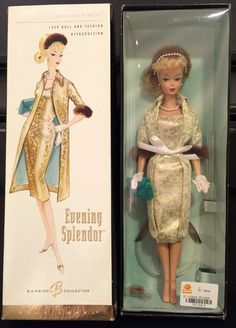 Boneca Barbie Evening Splendor Gold Label 1959 Rara - R$ 350,00 no MercadoLivre