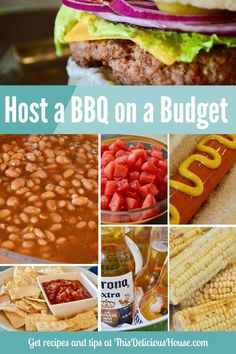 Summer is almost here and that means it's time to fire up the grill! But hosting a fun BBQ doesn't have to cost a lot. I have the tips and tricks on how to have a super easy and memorable Budget BBQ with all of your friends and loved ones without breaking Party Food On A Budget, Easy Party Food, Barbecue Recipes, Grilling Recipes, Beer Recipes, Dinner Recipes, Party Desserts, Appetizers For Party, Bbq Hamburgers