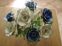 kytice pro radost  růže z kartonu od vajec