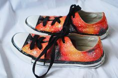 Galaxy hand painted converse shoes. $101.00, via Etsy.
