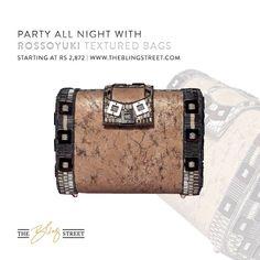 All you weekend needs is this #texturedclutchbag by Rossoyuki that looks like a trunk and is embellished with #japaneseglassbeads   Strikingly designed, its is simply irresistible: http://www.theblingstreet.com/rossoyuki-trunk-look-beaded-clutch  #weekendlook #weekendootd #weekendvibe #winterseason #winterparty #partseason #newlookfornewyear — with ROSSOYUKI.