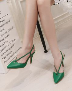 #VIPme Green Microfiber Fashion Pointed Toe Lace Up High Heel Pumps ❤ Get more outfit ideas and style inspiration from fashion designers at VIPme.com