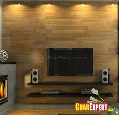 Simple yet nice LCD Wall Shelves - GharExpert