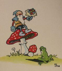Mushroom Gnome and frog