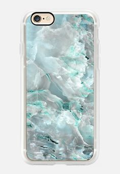Casetify iPhone 7 Case and Other iPhone Covers - Teal Onyx Marble by Marblous | #Casetify
