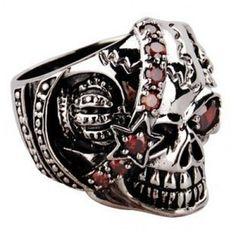 Sterling Silver Pirate Skull Ring