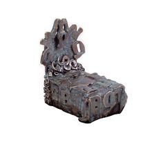 """""""Mini Alpha Bed"""" bronze, 3"""" x 4"""" x 4""""  EXHIBITION BOOK (including bio, artwork descriptions and prices) » https://www.sugarsync.com/pf/D7771278_2178774_6972504"""
