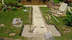 Interlock sidewalk, under construction! Under Construction, Ottawa, Sidewalk, Pictures, House, Photos, Home, Side Walkway, Walkway