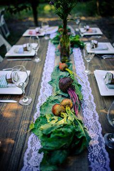 vegetable centerpieces!