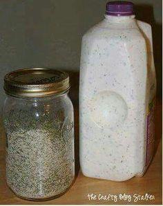 Best Ever Ranch Dressing ********* 1/4 C. Black Pepper  /   1 1/2 C. Parsley Flakes  /   1/2 C. Garlic Salt  /  2 Tbsp Kosher Salt  /  1/4 C Granulated Garlic  /  3/4 C Granulated Onion  /  2 Tbsp Dill Weed  2 cups mayonnaise  /   2 cups buttermilk  /   1 1/2 cups sour cream  /   1 teaspoon of lemon juice   /////   http://newcaakerecipes.blogspot.com/2016/03/homemade-ranch.html