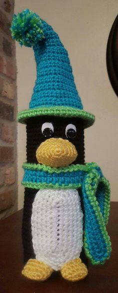 Penguin Bottle Buddy created by Crochet by Mary Ann