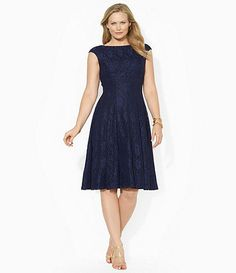 Patra plus size tiered dress navy