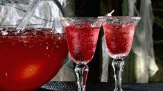 Dragon's Blood Punch (non-alcoholic) Recipe : Sandra Lee : Food Network. Obviously, I'll be leaving the alcohol out. =)