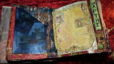 altered book, mix and much with journal junk, collage and mixed media -πειραγμένο βιβλίο, μίξη με πολλά, σκουπίδια περιοδικών, κολάζ και μεικτά μέσα Altered Books, Mixed Media, Collage, Journal, Artwork, Collages, Work Of Art, Auguste Rodin Artwork, Book Art