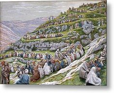The Miracle Of The Loaves And Fishes Metal Print by Tissot