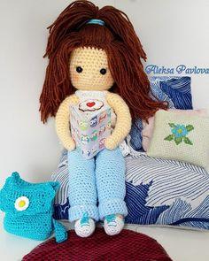 aleksa_pavlova23:: Кукла София с гардеробом#кукларучнойработы #кукла #куклакрючком  #игрушкикрючком #игрушкаручнойработы #ручнаяработа #алексапавлова  #амигуруми #слюбовью #крючком #вяжутнетолькобабушки #amigurumilove #aleksapavlova #amigurumi #handmade