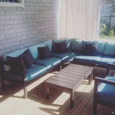 Outdoor Sectional, Sectional Sofa, Outdoor Furniture, Outdoor Decor, My House, Projects, Home Decor, Log Projects, Modular Couch