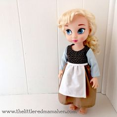 Cinderella looks lovely even while she cleans... |disney animator doll clothing