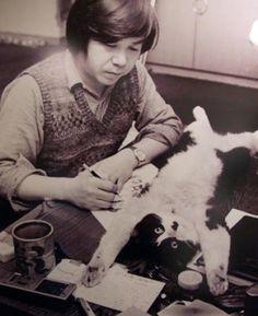 taishou-kun:  Aktsuka Fujio 赤塚不二夫 (1935-2008), mangaka at work - Japan - 1960s