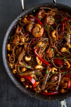 Chilli Cashew Shrimp Noodles