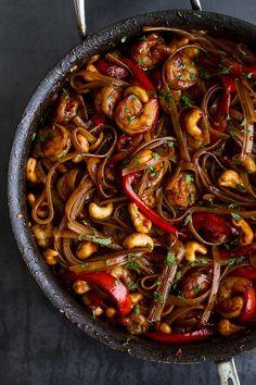 Chilli Cashew Shrimp Noodles | halfbakedharvest.com