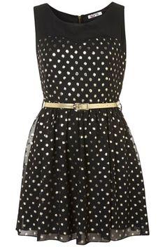 Gold Spot Dress by Wal G ~ Topshop