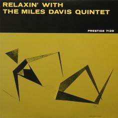 Miles Davis album cover art for Relaxin with the Miles Davis Quintet