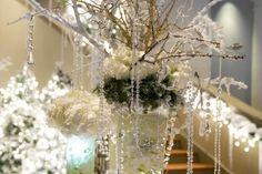 winter wonderland decorations home decoration ideas table centerpiece glass beads flowers