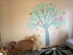 Wyklejka drzewo sowy pokój dziecka