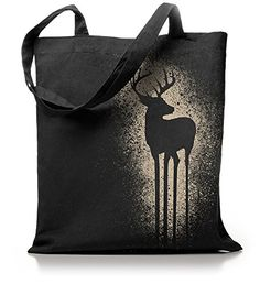 Kane Grey - Deer - Jutebeutel in schwarz - http://on-line-kaufen.de/kane-grey/kane-grey-deer-jutebeutel-in-schwarz