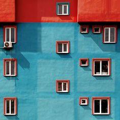 Shape vs colour Istanbul's vibrant contemporary architecture Architecture Design, Contemporary Architecture, Architecture Colleges, Geometry Architecture, Architecture Magazines, Minimal Photography, Color Photography, Photography Triangle, Photography Composition