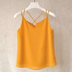 Chiffon Blouse Summer Women Casual Chemise Femme Tops Women Blouses Sexy Backless Top Blusa Sleeveless Womens Tops And Blouses Womens Sleeveless Tops, Sleeveless Blouse, Backless Top, Blouses For Women, Athletic Tank Tops, Chiffon, Casual, Halter Tops, Halter Neck