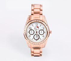 Hello Kitty Crystal Bezel Watch