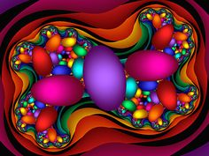 Fractal Candy Eggs by wolfepaw.deviantart.com on @deviantART