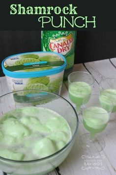Shamrock Punch Recipe for St. Patrick's Day #recipe