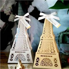 /Wedding Supplies #Favor Holders# Wedding Boxes Favors Candy Favors Gift Boxes Laser Cut The Eiffel Tower In Paris Purple Wedding Favor Boxes Purse Favor Boxes From Bridal_gowns, $67.86| Dhgate.Com