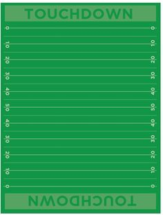 Football Field Free Printable Paper. Cute for decorating a party table and more!