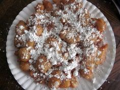 GF funnel cake using pancake mix: 1.5 cups Pamela's Mix, 3/4 cup water, 2 eggs separated, 2 TBSP oil, & oil to fry in