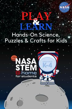 Young students can lead the way with STEM activities to do with their families or independently. NASA STEM@Home has crafts to make, rockets to build and launch, puzzles to solve, printables to color and games to play. Find something fun to do as students learn about space, spacecraft, Earth and much more! Space Activities For Kids, Steam Activities, Learning Activities, Kids Learning, Learning Skills, Skills To Learn, Learning Resources, Student Learning, Science Experiments Kids