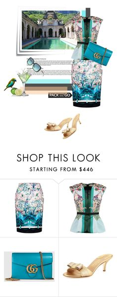 """""""...off to Rio"""" by theitalianglam ❤ liked on Polyvore featuring Post-It, Mary Katrantzou, Gucci, Salvatore Ferragamo and Tiffany & Co."""